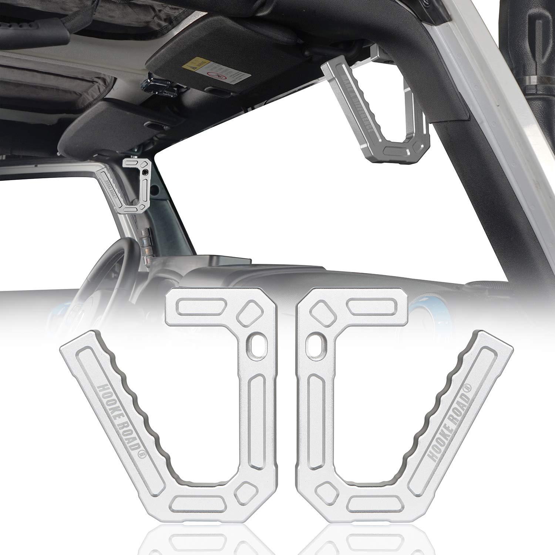 Aluminum Front Grab Handle Kit For Jeep Wrangler JK 07-18 Smittybilt 76931