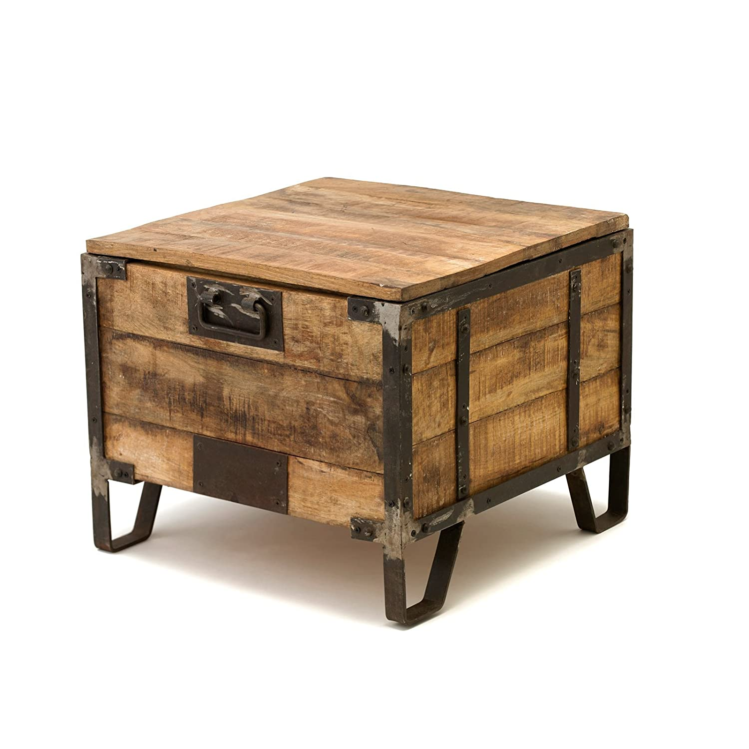 Amazon.com: The James   Handmade Trunk End Table From The Barrel Shack:  Kitchen U0026 Dining