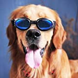 OFPUPPY Dog Sunglasses - 100% Eye UV Protection,Windproof and Anti-fog Goggles for Pets Doggie,Black