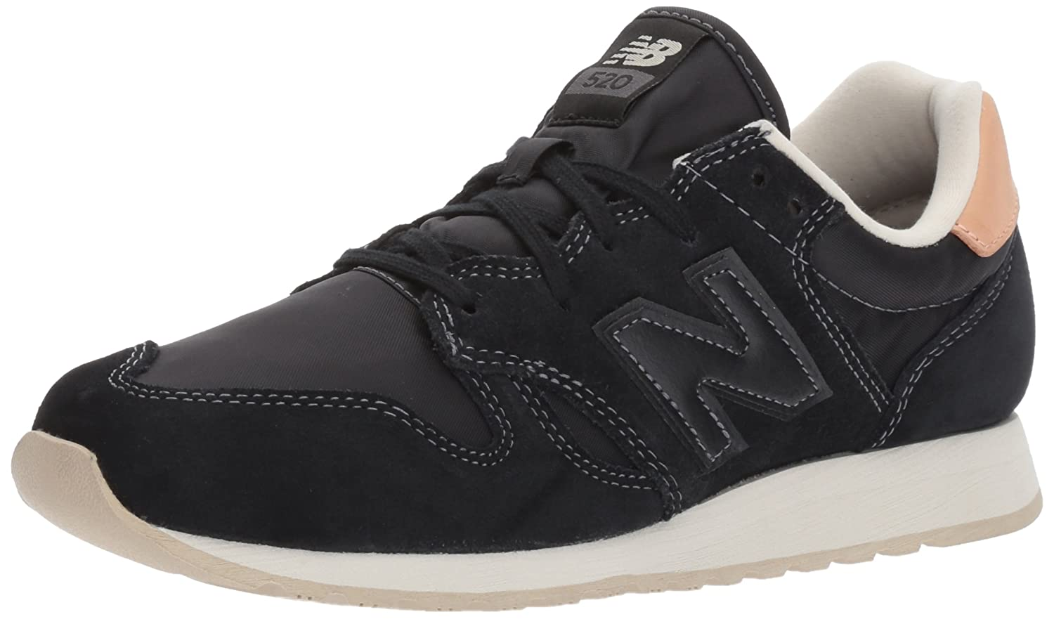 New Balance Women's 520v1 Sneaker B01MSOSSJG 7.5 B(M) US|Black/Phantom
