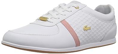 af5bdcef1 Lacoste Women's Rey Sport 318 1 Sneaker, White/Pink Leather, 9 Medium US