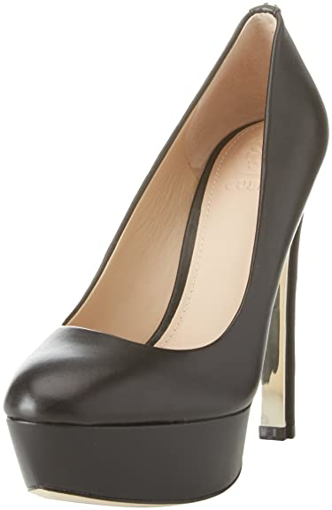 Guess Footwear Dress Open Toe, Escarpins à Plateforme Femme, (Black Black), 38 EU