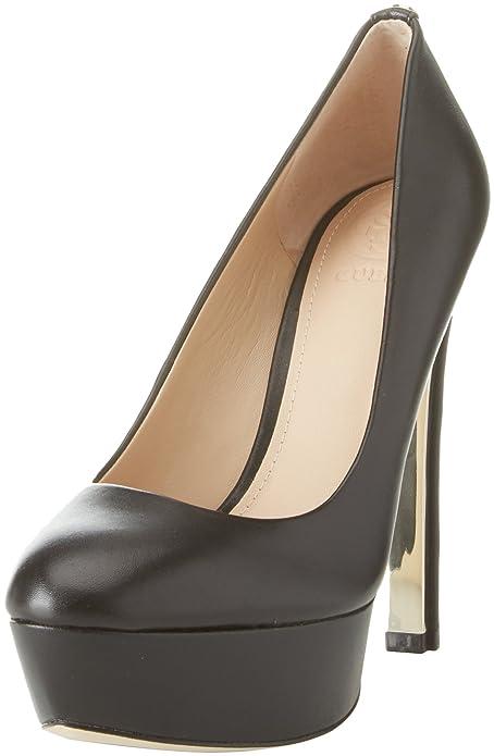 Guess Footwear Dress Open Toe, Zapatos con Plataforma para Mujer, Negro (Black Black), 40 EU Guess