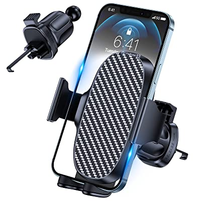Upgraded Hands Free Gravity Car Cell Phone Holder Clip Car Phone Holder Mount Universal Air Vent Phone Mount for 4.5-6.5 Smartphone