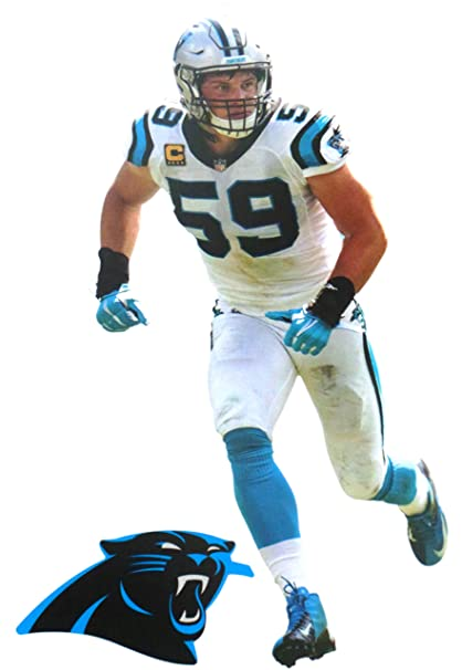 770836ed Amazon.com: FATHEAD Luke Kuechly Mini Carolina Panthers Official NFL ...