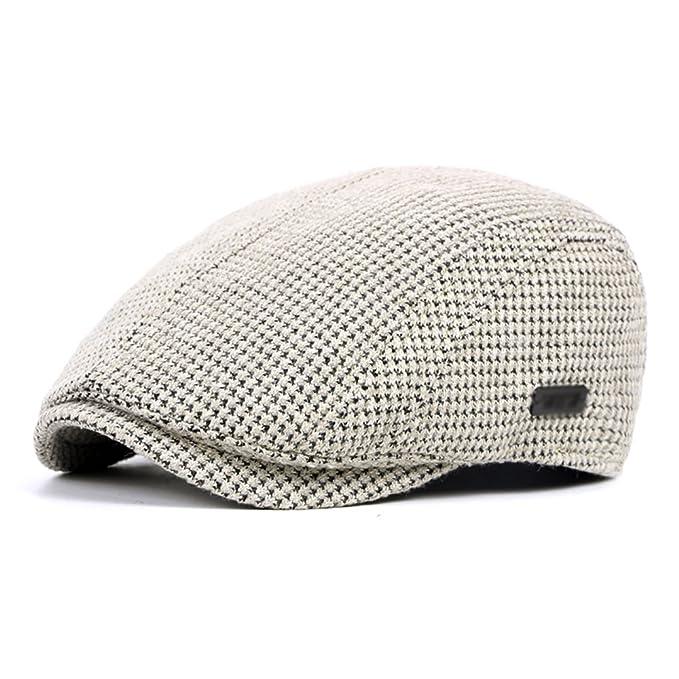 Boinas para hombres sombrero de punto estilo británico espeso gorro cálido  invierno beige ropa accesorios jpg 0d4db977d38