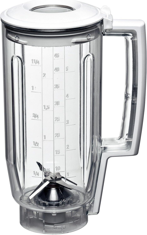 Bosch MUZ5MX1 Batidora de vaso - Accesorio para robot de cocina de la serie MUM5, Color blanco y transparente