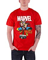 Officially Licensed Merchandise Marvel Comics The Mighty Thor T-Shirt (Red)