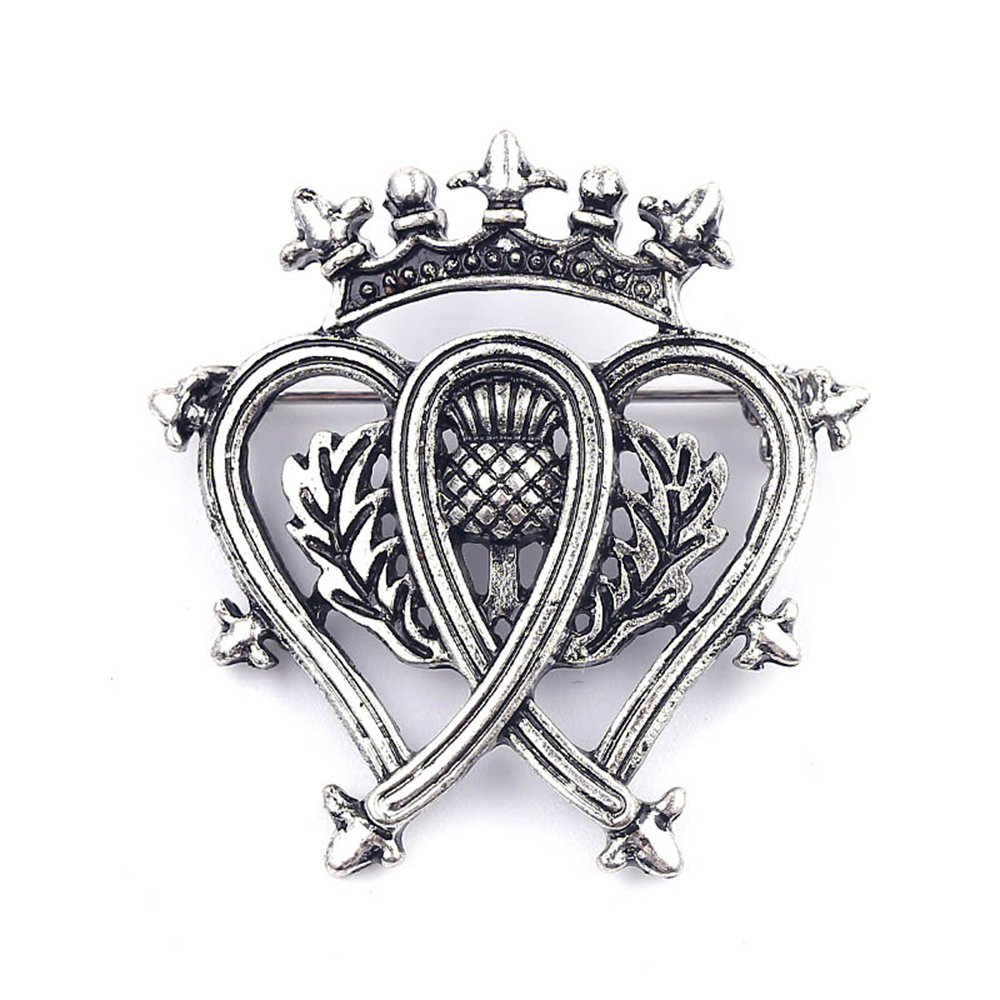 Magical Jewelry Gift Co.. Traditional Scottish Style Luckenbooth Brooch Pin - Silver/Metal (0.3 oz)