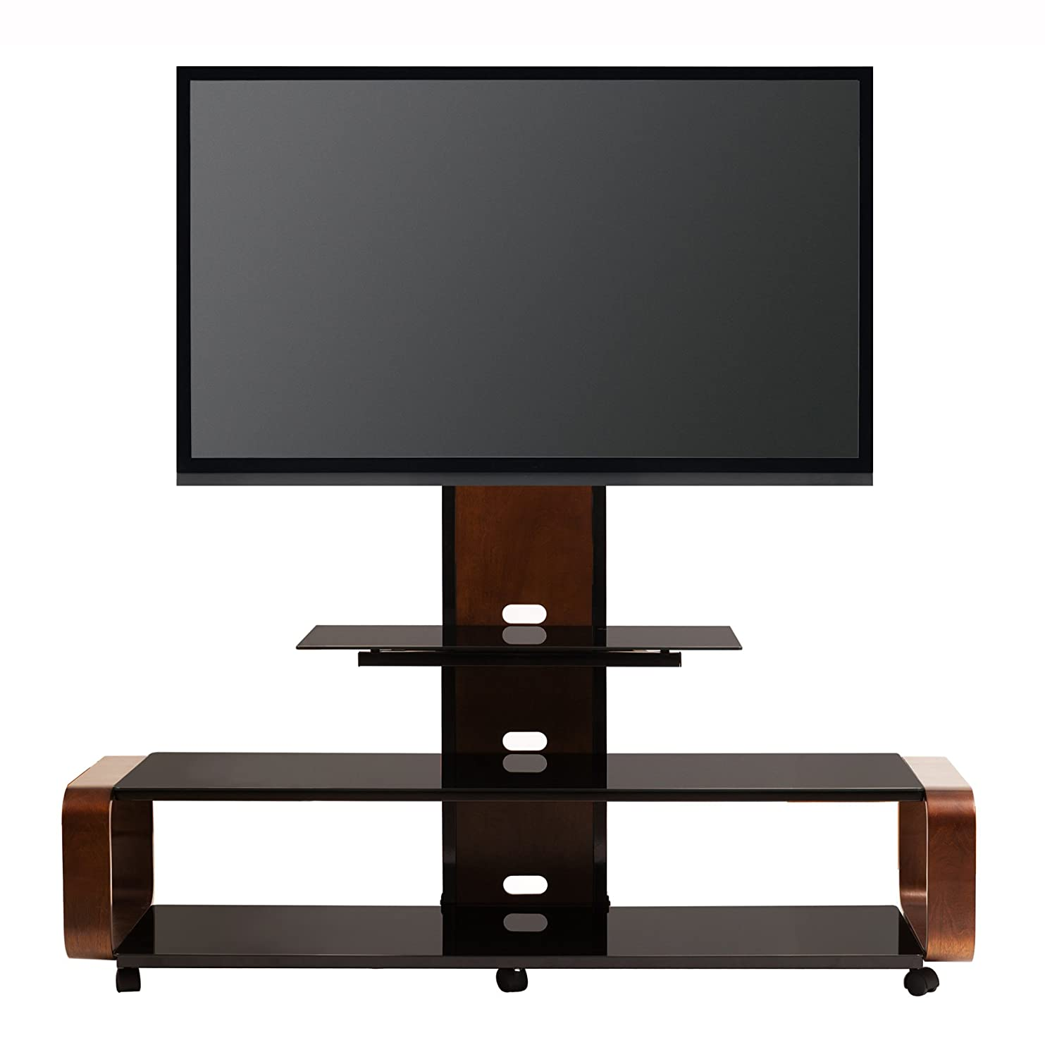 Amazon.com: TransDeco TD655DB Multi Function 3 In 1 TV Stand With Universal  Mounting System For 35 To 80 Inch LCD/LED TV: Kitchen U0026 Dining