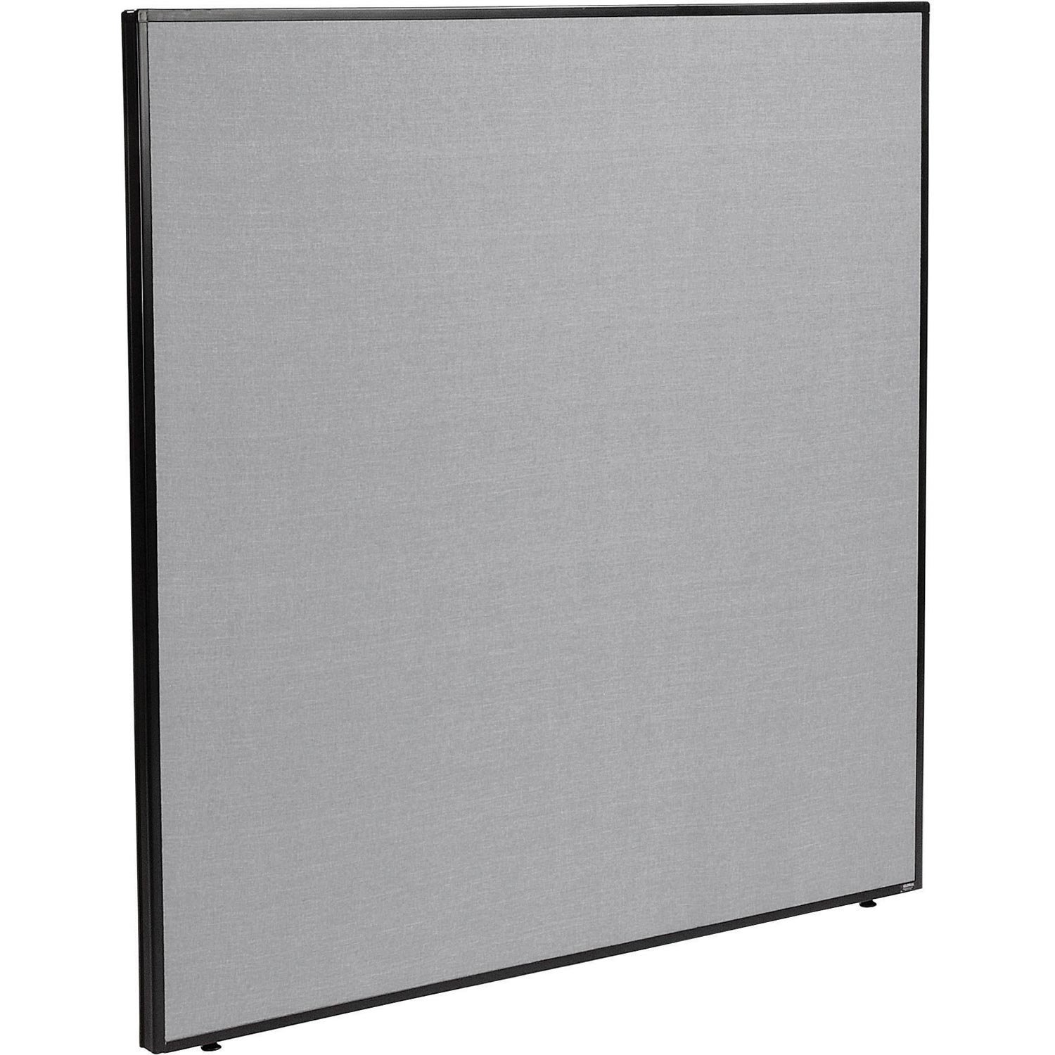 60-1/4''W x 60''H Office Partition Panel, Gray
