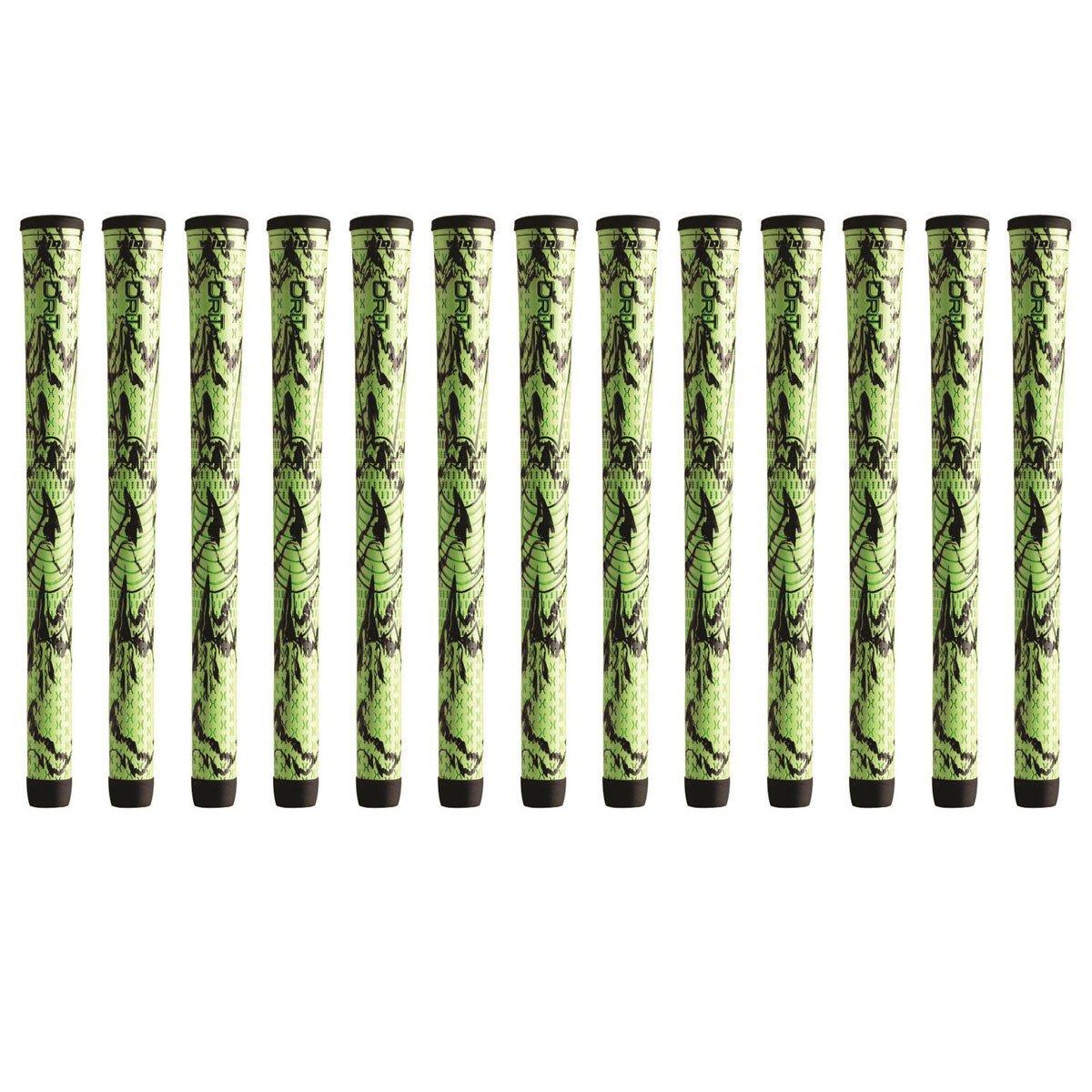 Winn DriTac X標準グリーン/ブラックゴルフグリップバンドル(13個) B0792D59Q7