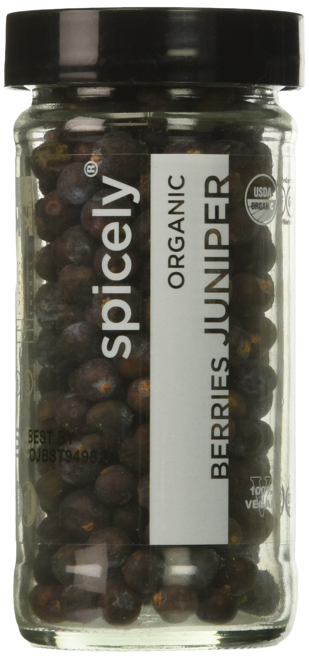 SPICELY Jar Organic Juniper Berries, 1.1 OZ
