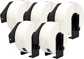 bianco Printing Pleasure DK-11201 29mm x 90mm Etichette Adesive etichetta per rotolo: 400 compatibile per Brother P-Touch QL-500//QL-550//QL-560//QL-570//QL-700//QL-710W//QL-720NW//QL-1050//QL-1060N