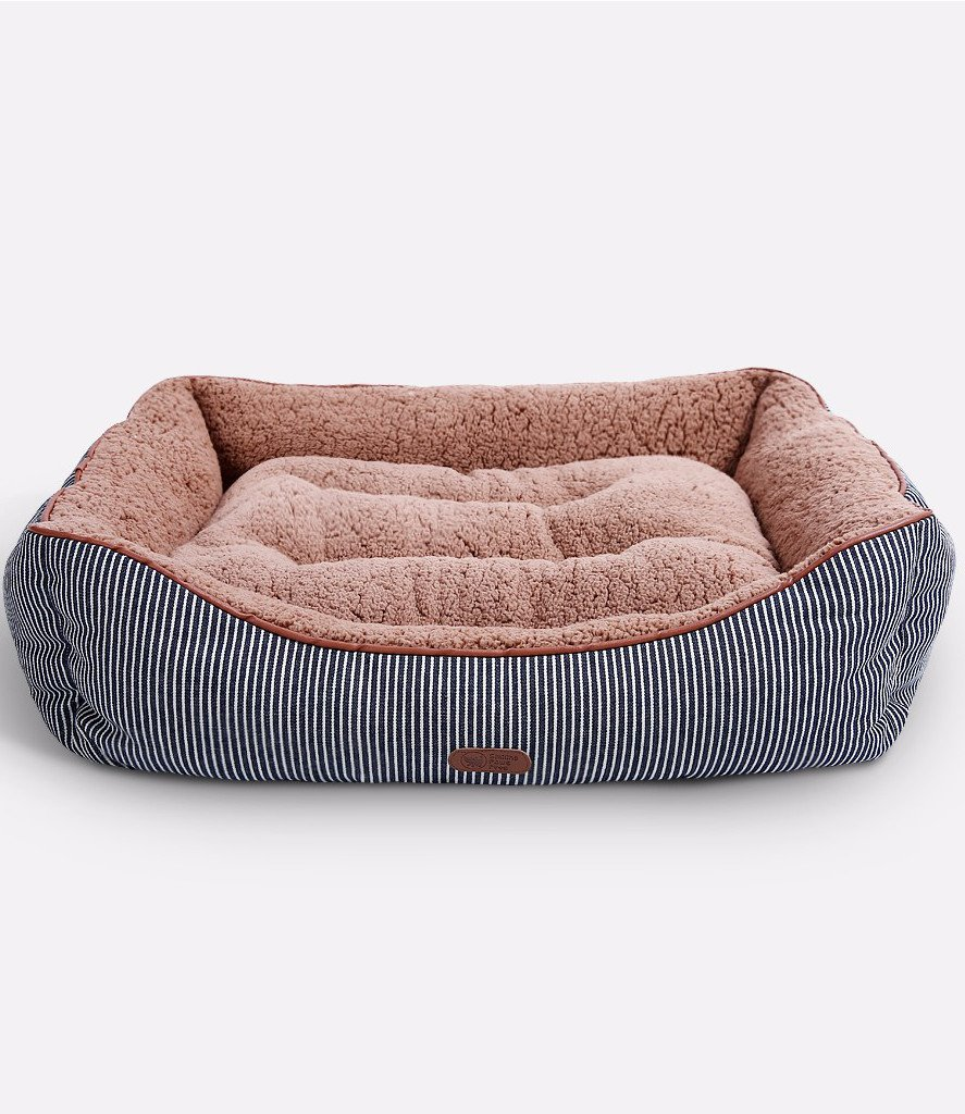 Smiling Paws Pets Washable Premium Dog and Cat Bed/Lounge with Soft Sides - Organic Cotton - A Puppy and Kitty Dream Bed | 25'' x 19'' x 7''