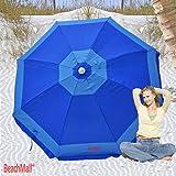 Deluxe 6 ft Rio Beach Umbrella Sunshade UPF 100+