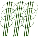 """Sunnyglade Plant Support Cages 18 Inches Plant Cages with 3 Adjustable Rings, Pack of 3 (18"""")"""
