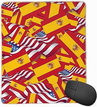 Alfombrilla de ratón Bandera de España con la Bandera de América Alfombrilla de ratón para Juegos Alfombrilla de ratón Diseño Personalizado Antideslizante 25 x 30 x 0,3 cm: Amazon.es: Electrónica