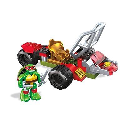 Mega Construx Teenage Mutant Ninja Turtles Half-Shell Heroes Raph Shell Cycle: Toys & Games