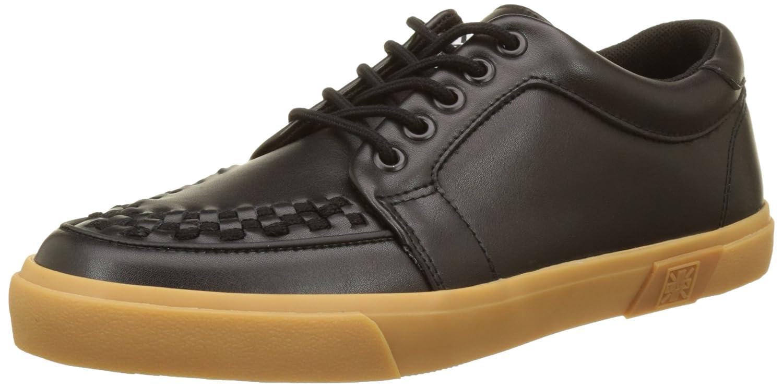 T.U.K. VLK Creeper Sneaker Black Leather/Gum - Zapatilla Alta Unisex Adulto