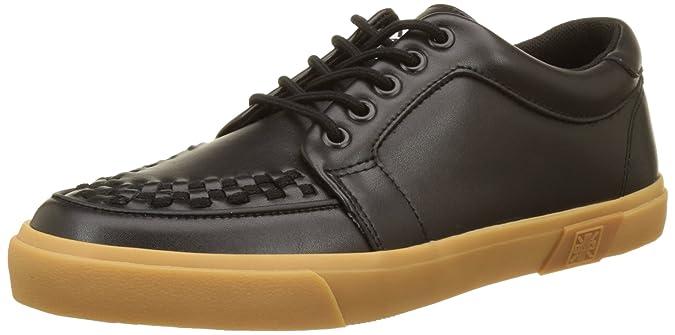 VLK Creeper Sneaker Black Leather/Gum, Unisex Adults Low T.U.K.