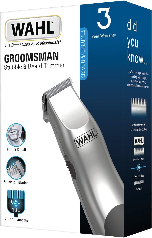 Wahl Groomsman - Recortadora en blíster, color plata: Amazon.es ...