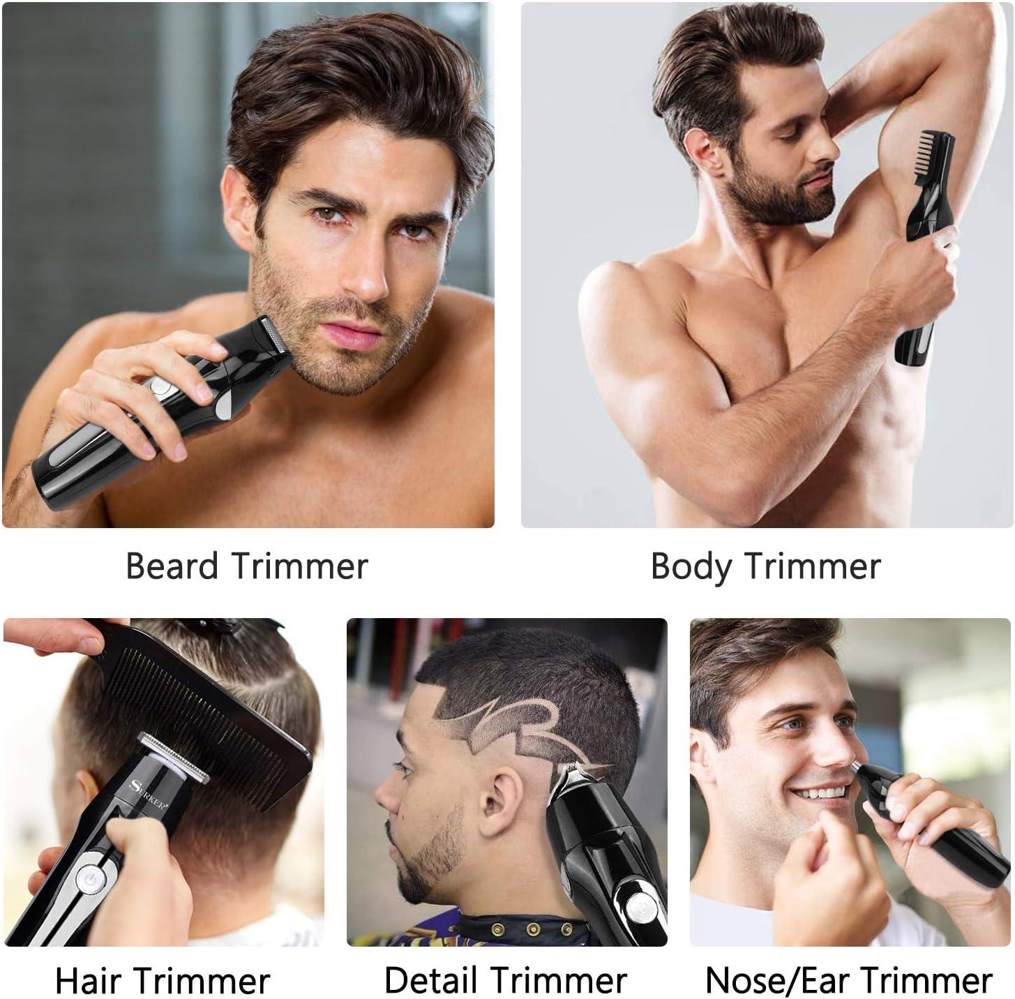 Barbero Electrico Cortapelos, Nivlan Recortador de Barba y ...