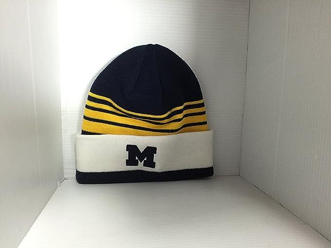 56fb5b8b71dbe Michigan Wolverines Adidas Cuffed Knit Hat at Amazon Men s Clothing ...