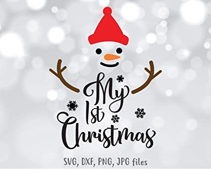 First Christmas In Our New Home Svg.Amazon Com Pene My First Christmas Decal My 1st Christmas