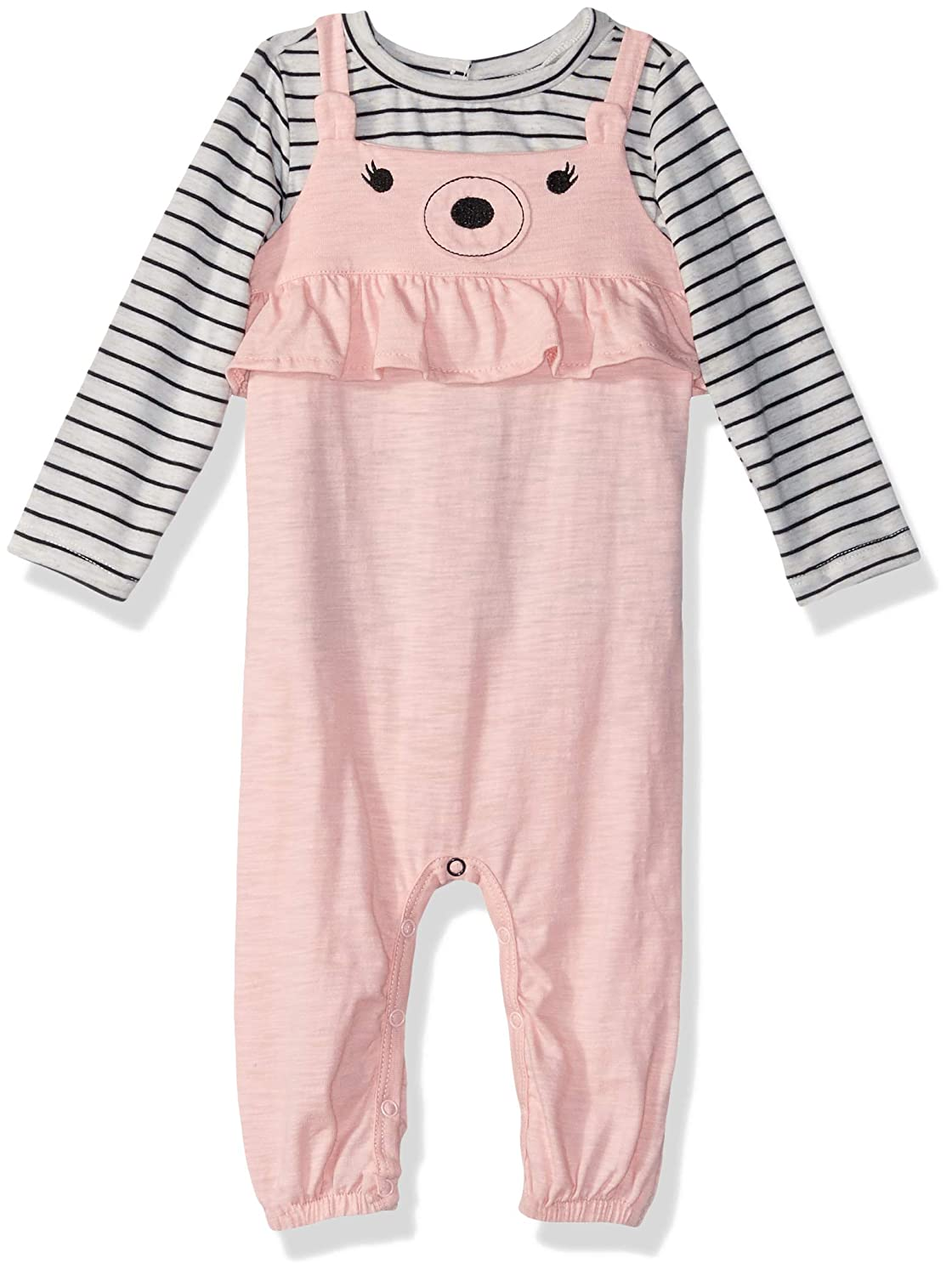 Amazon Com Jessica Simpson Baby Girls Long Sleeve Striped Top And