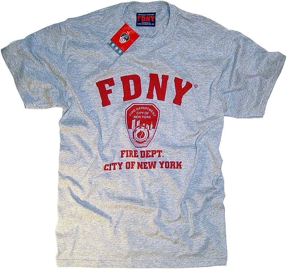 The New York City Fire Department - Camiseta, diseño de FDNY, oficial Gris gris X-Large: Amazon.es: Ropa y accesorios