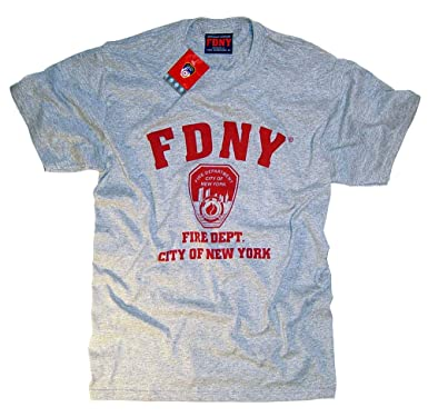 dbca1be7 FDNY Shirt T-Shirt Authentic Clothing Apparel Officially Licensed  Merchandise by The New York City Fire Department 2X-Large: Amazon.co.uk:  Clothing