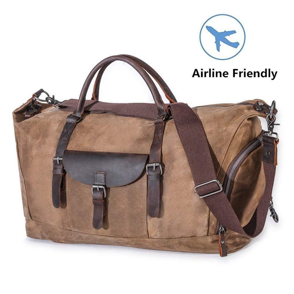 Travel Luggage Bag Large Canvas Duffel Bag Portable Sports Hand Bag for Women Men Vintage Weekender Duffel Bag