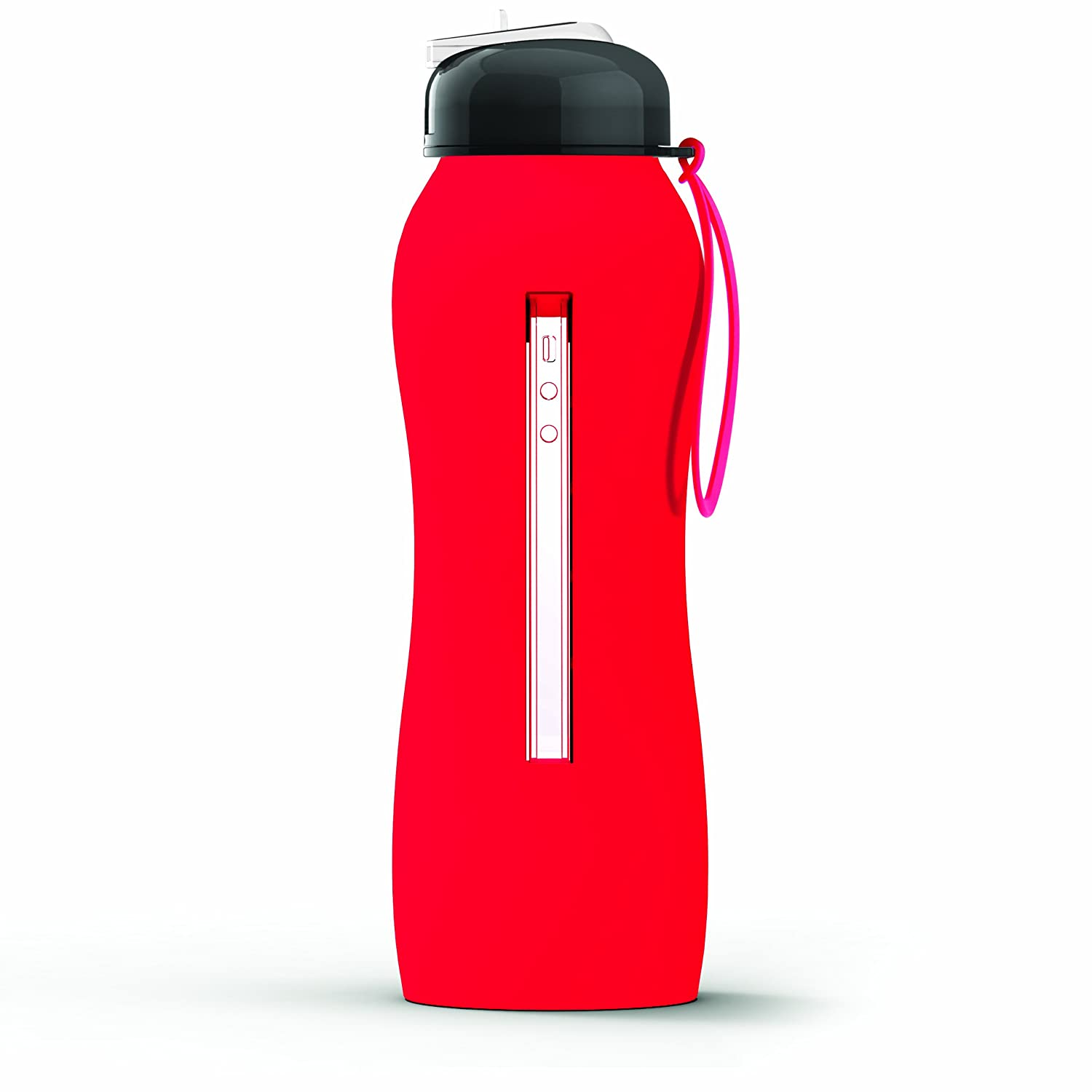 Amazon.com Asobu The Beat Silicone Hydra Bottle with Sport Lid Red Kitchen u0026 Dining  sc 1 st  Amazon.com & Amazon.com: Asobu The Beat Silicone Hydra Bottle with Sport Lid Red ...