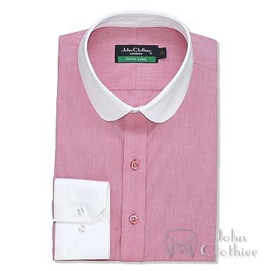 547774931ba5c WhitePilotShirts Round Collar Mens Bankers Shirt Pink Melange 100 ...