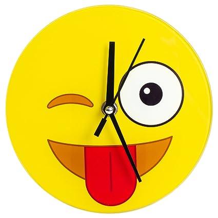 Magnificent Amazon Com Crazy Emoji Wall Desk Clock Home Kitchen Download Free Architecture Designs Scobabritishbridgeorg