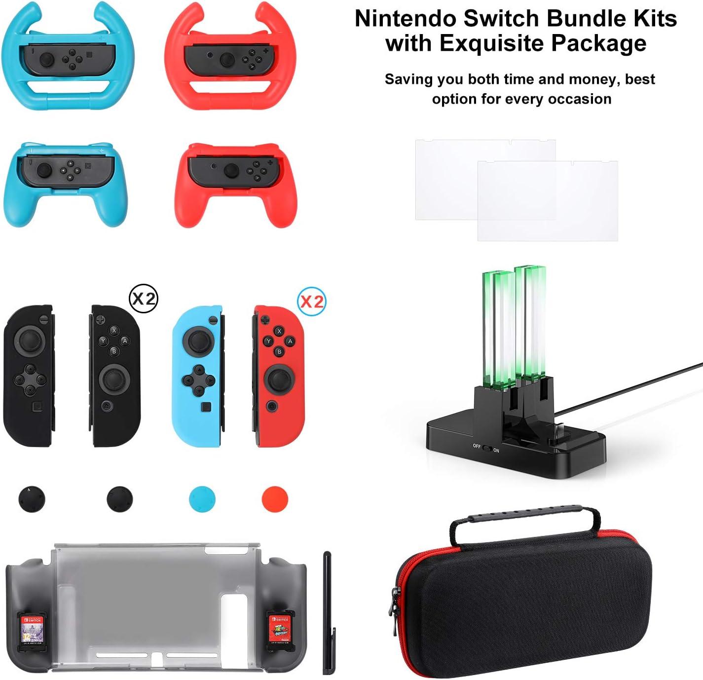 Kit de Accesorios para Nintendo Switch Games Bundle Funda de ...