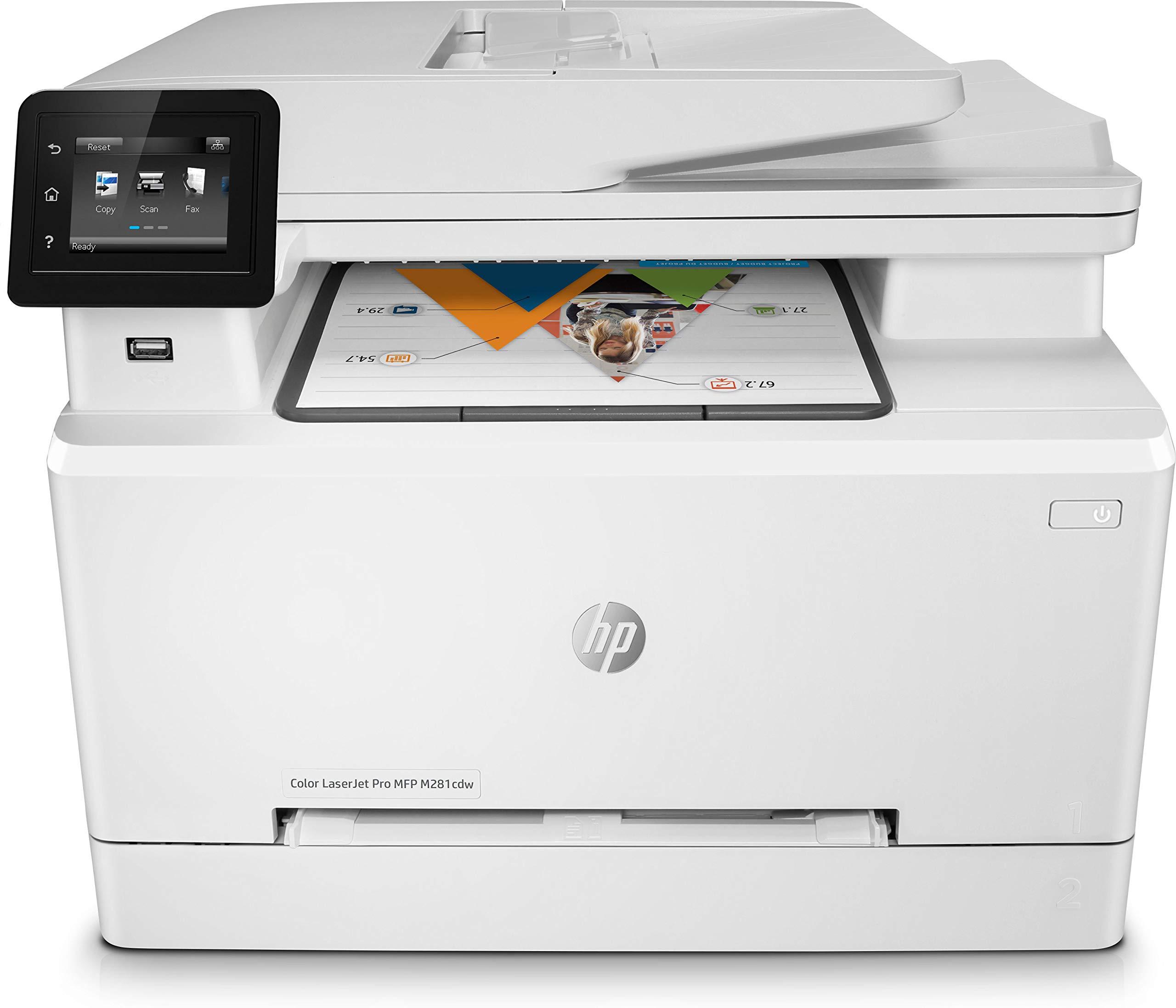 HP Color Laserjet Pro MFP M281fdw – Impresora multifunción láser (WiFi, fax, copiar