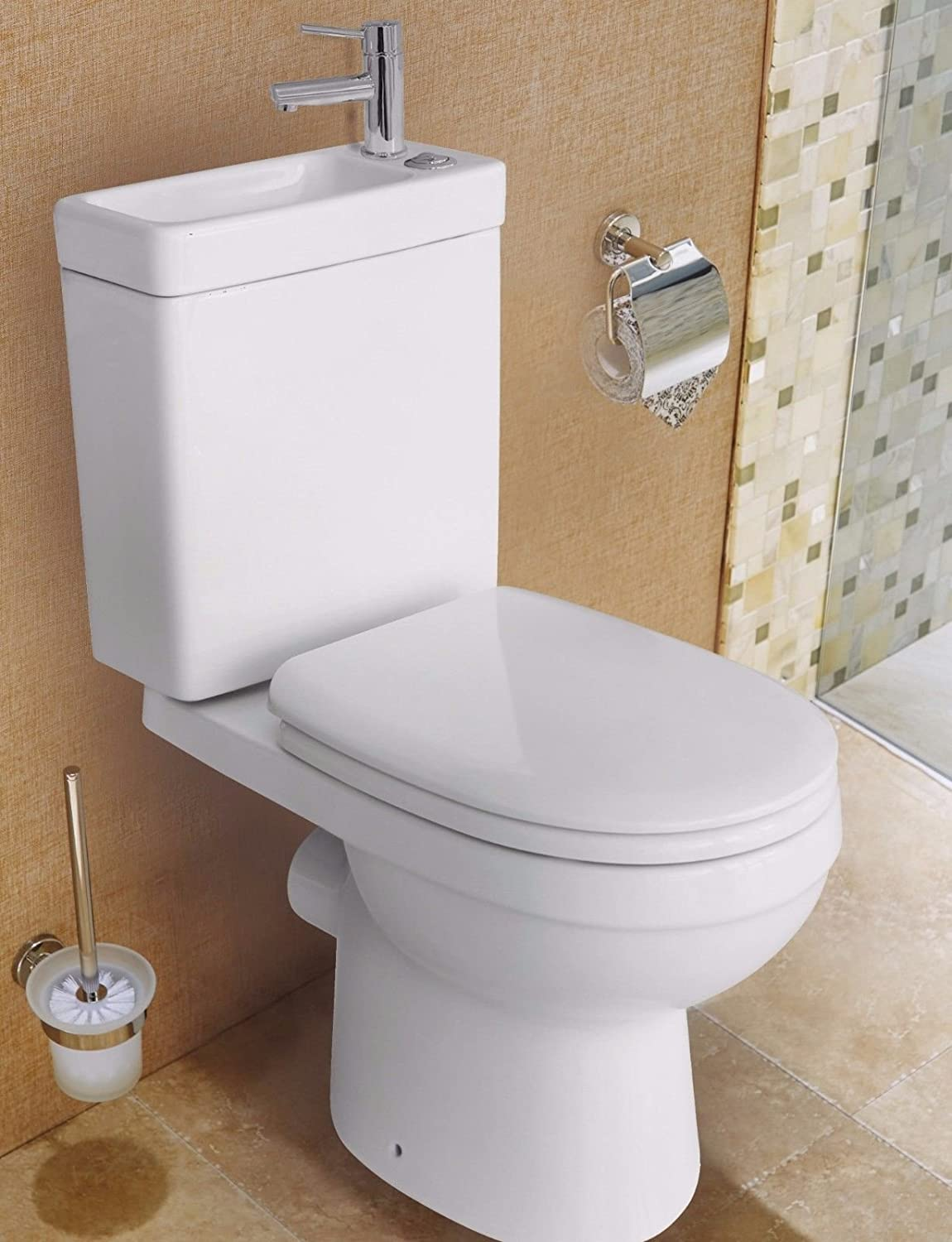 promo code b0fbc 71e63 Duo Toilet Basin Combo Combined Toilet With Sink Tap Space Saving Cloakroom  Unit