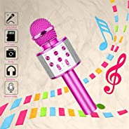 Coodoo Toys for 6-10 Year Old Girls  Wireless Handheld Bluetooth Karaoke Microphone for Home Party  Ideal Gift for Kids Birt
