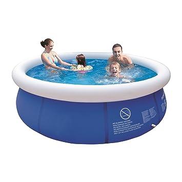 Swimmingpool im garten kinder  Jilong Marin Blue Rundpool Ø 300x76 cm Quick-Up Swimming Pool Fast ...