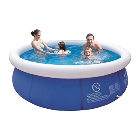 Swimmingpool im garten kinder  Jilong Marin Blue Rundpool Ø 300x76 cm Quick-Up Swimming Pool Fast ...