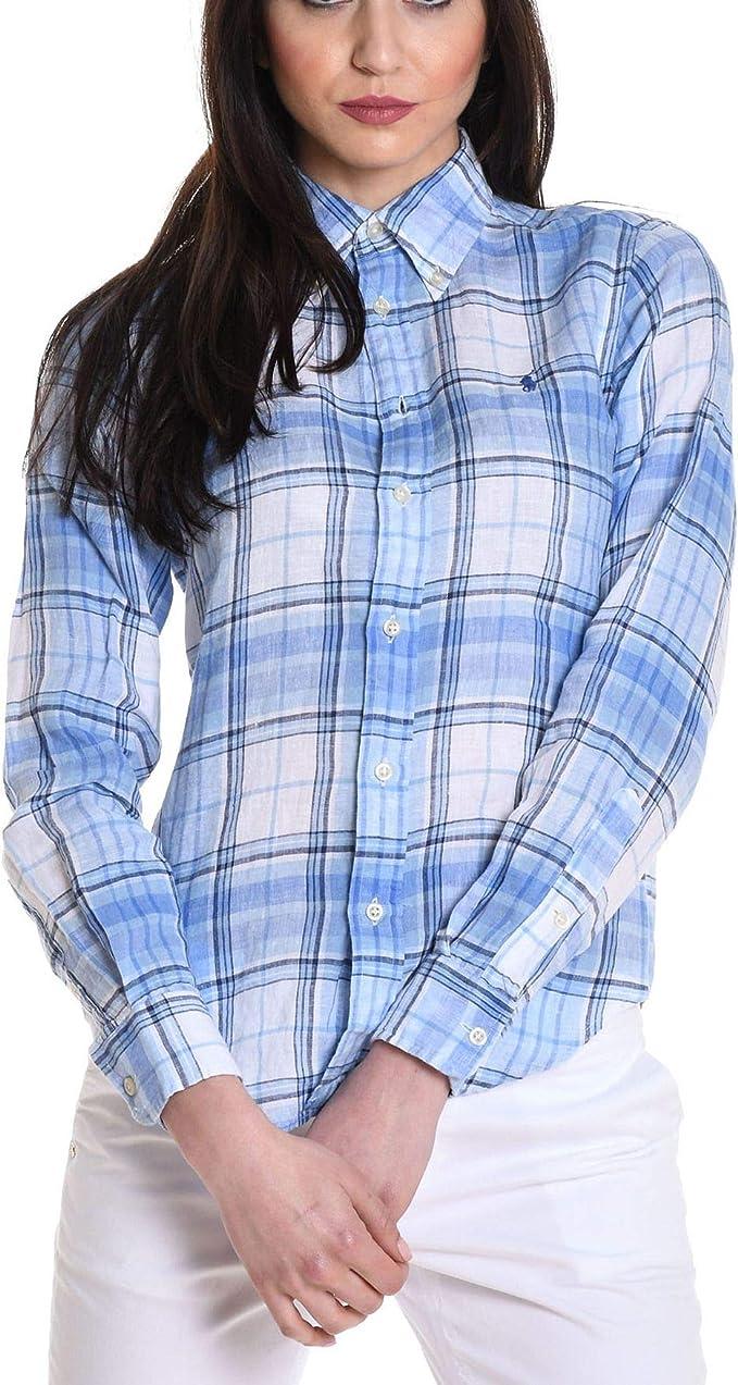 Ralph Lauren - Camisas - para mujer azul claro 40: Amazon.es ...