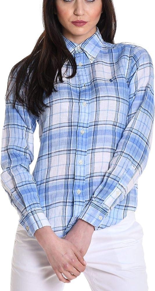 Ralph Lauren - Camisas - para mujer azul claro 40: Amazon.es: Ropa y accesorios