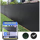 FenceScreen 6ft x 50ft Black Fence Privacy Screen - Extreme 98% Blockage Windscreen Mesh Fence Cover