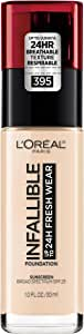 L'Oreal Paris Makeup Infallible Up to 24 Hour Fresh Wear Foundation, Rose Pearl, 1 Ounce