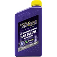 Royal Purple 06020 API-Licensed SAE 0W-20 High Performance Synthetic Motor Oil - 1 Quart (Pack of 6)