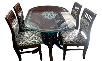 HI Tech Comfort Model Dining Table Set With Four Chairs Amazonin