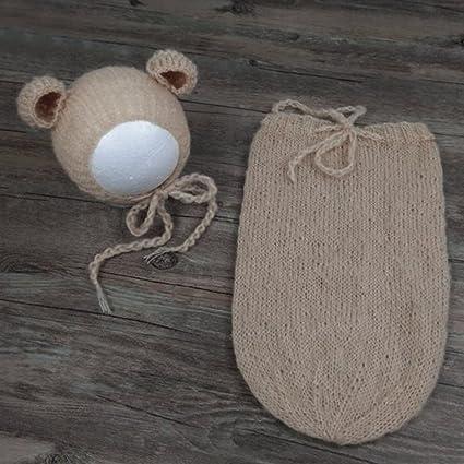 Merssavo Color 1 Accesorios de Fotografía para Recién Nacidos Traje de Disfraz para Bebés Punto de