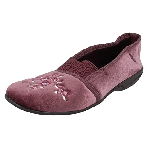 Target - Zapatillas de estar por casa para mujer Rojo granate: Amazon.es: Zapatos y complementos